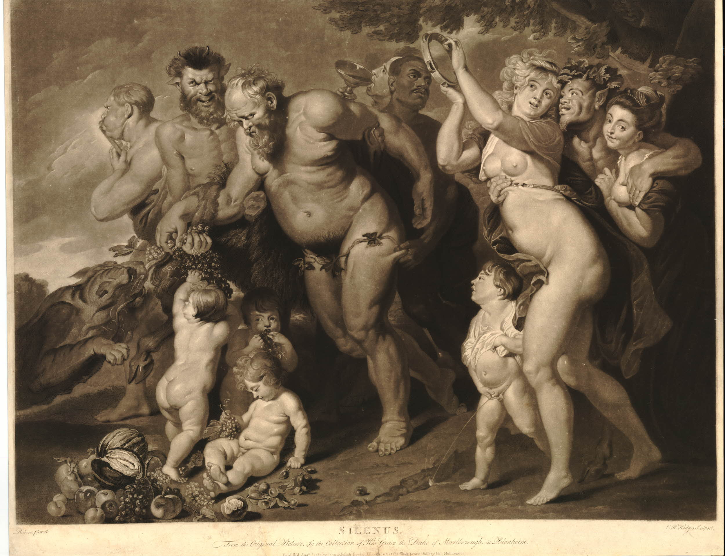 After Peter Paul Rubens Silenus Engraved By Charles Howard Hodges,  Published 1789
