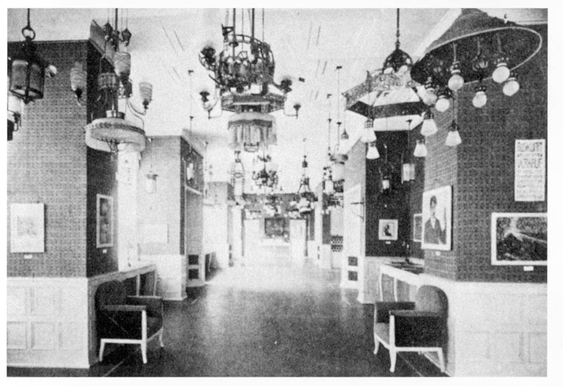 Photograph Of The Sample Hall Showroom Of The Karl Max Seifert Lamp Factory,  Dresden Löbtau, Featuring Works From The First Brücke Exhibition 1906