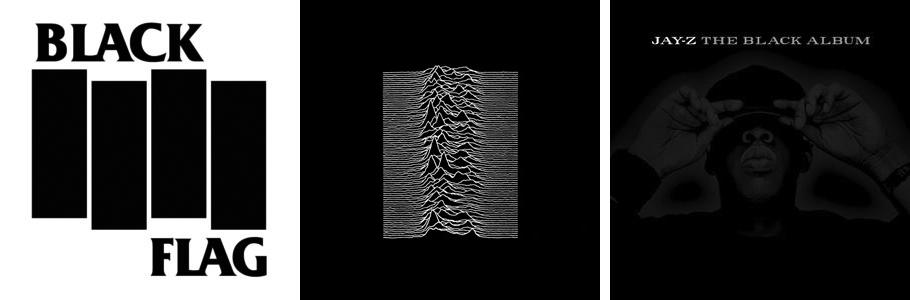 Malevich black square homage album covers