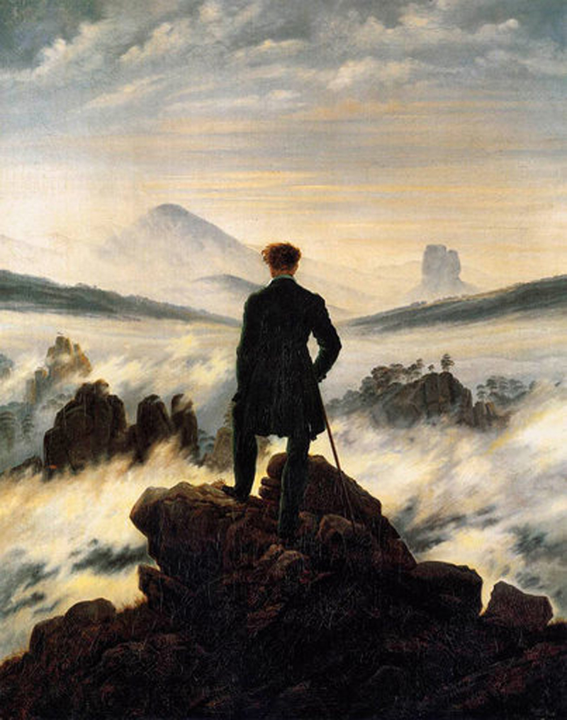 Caspar David Friedrich Wanderer Above the Sea of Fog 1818