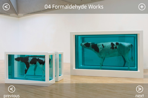 963f6d53c700 Image for Damien Hirst exhibition app showing Hirst s Mother and Child  Divided
