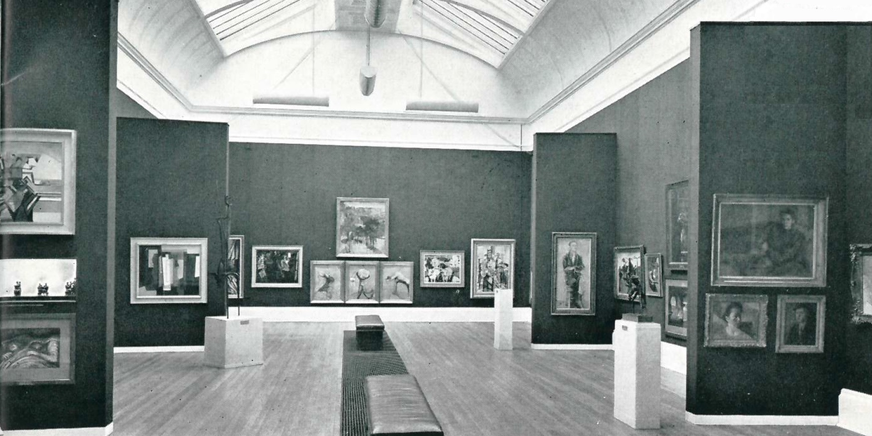 The 1957 Rehang Of Tates Modern British Gallery Displaying The