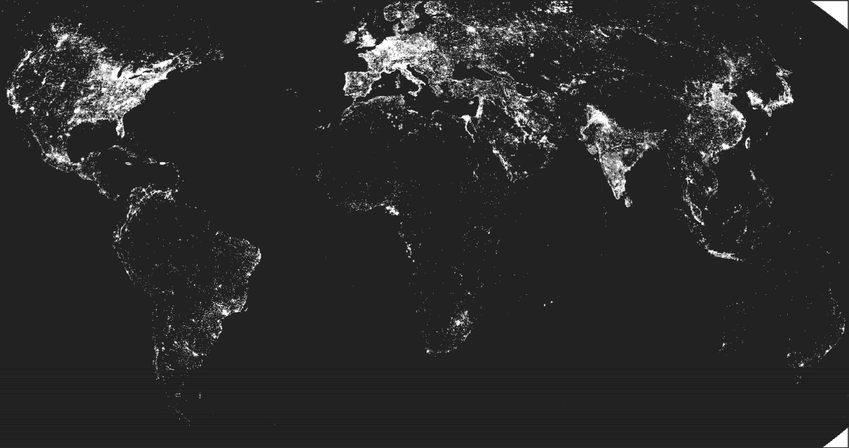 Little sun charter of light and energy when the sun sets in a black map of the world with white showing most lit areas gumiabroncs Image collections