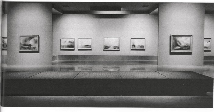 Installation view of Turner: Imagination and Reality at the Museum of Modern Art 1966