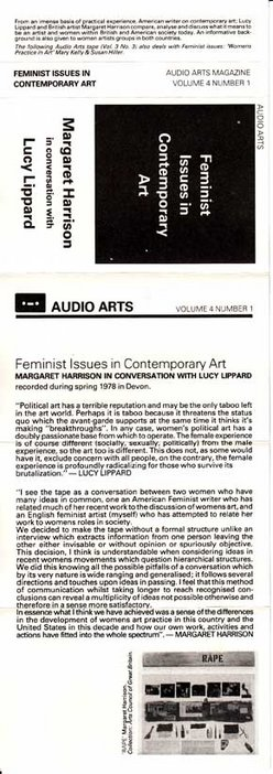 Audio Arts Volume 4 No 1 Inlay 1 showing the cassette cover layout with quotes from the contributors