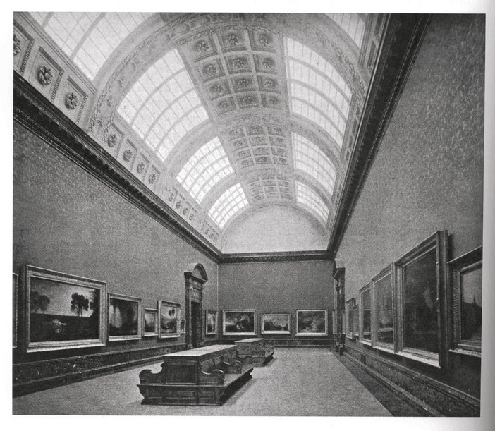 View of a room in the new Turner wing at Tate Gallery in 1910