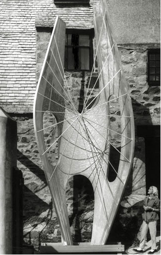 Hepworth with the model for Winged Figure