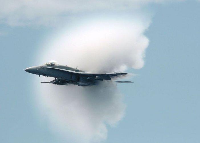 Warplane passing the sound barrier - U.S. Navy