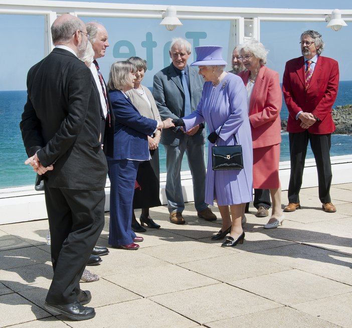 The Queen's visit to Tate St Ives in May 2013, where she met some of the orginal members of STAG