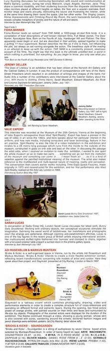 Audio Arts Volume 16 No 3 & 4 inlay 2