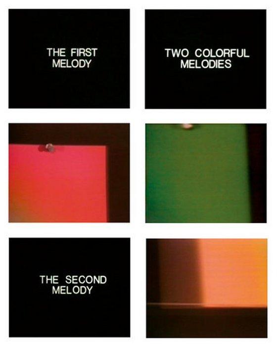 John Baldessari Stills from Two Colourful Melodies 1977