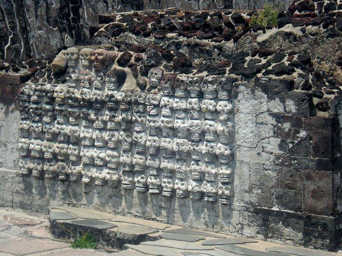 The Tzompantli (Skull Rack) Altar, Templo Mayor, Tenochtitlan 2007