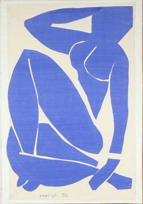 Henri Matisse Blue Nude (I) Spring 1952
