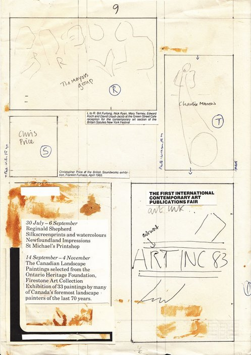 Audio Arts Volume 6 Nos 2 and 3 Archive material 3 showing rough sketches of a page layout