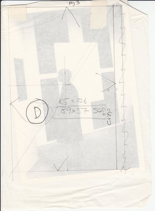 Audio Arts Volume 6 Nos 2 and 3 Archive material 4 showing a rough cut and paste layout with tracing paper overlayed and pencil markings