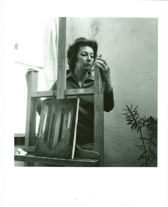 Kati Horna, Remedios Varo at her Easel, Mexico, 1963
