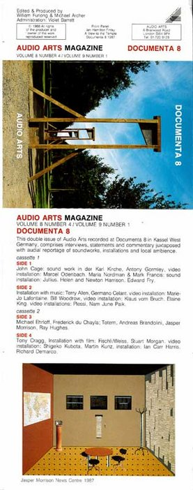 Audio Arts Volume 8 No 4 and Volume 9 No 1 Inlay. Cassette layout showing colour photograph and artwork along with sides contents