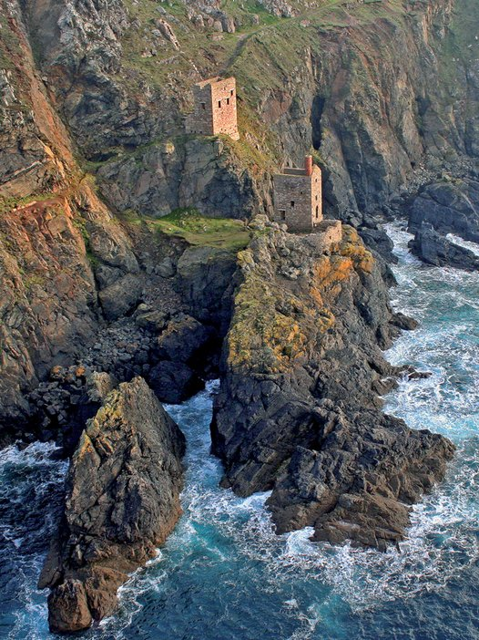 Botallack Mine - Crowns engine houses  Credit Cornish Mining World Heritage Site