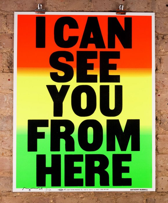 Anthony Burrill I Can See You From Here lithograph letterpress print