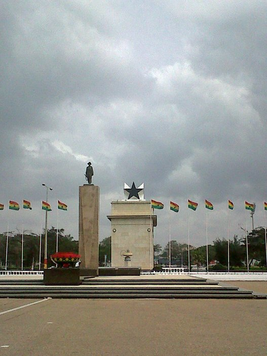The Black Star Gate, view from the Independent Square, Accra, Ghana