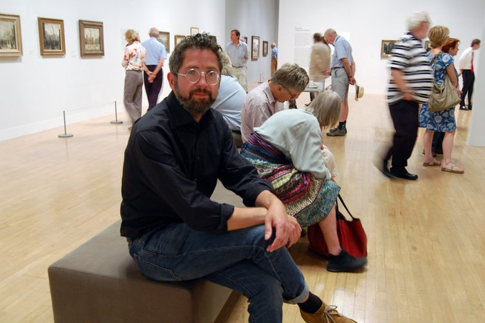 Late at Tate Britain Programmer Adrian Shaw in the Lowry exhibition at Tate Britain