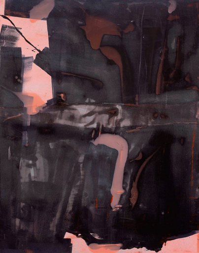 Alex Hubbard Lazy Mans Load 2 2010 abstract black pink and brown shapes