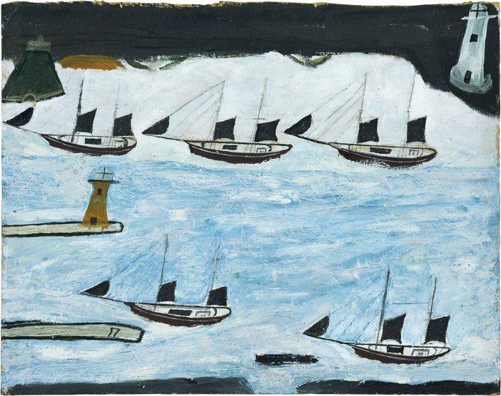 Alfred Wallis, Five Ships, Mount's Bay, c.1928, Kettle's Yard, University of Cambridge.