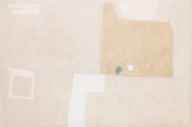 Agnes Martin Untitled oil on gypsum board