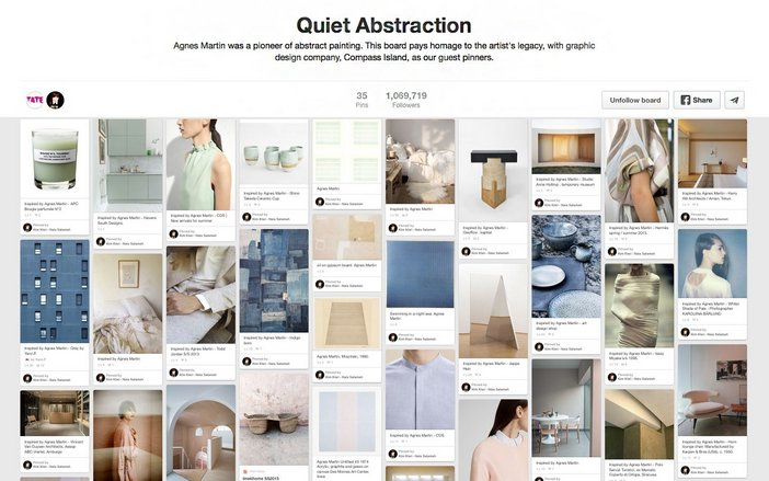 Quiet Abstraction Pinterest board by Tate and Compass Island