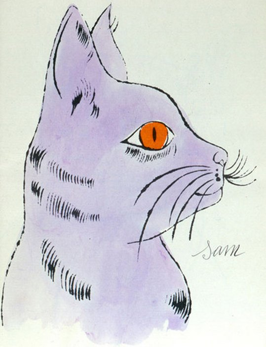 Andy Warhol 25 Cats Named Sam and One Blue Pussy 1954