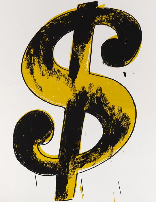 Andy Warhol Dollar Sign 1982