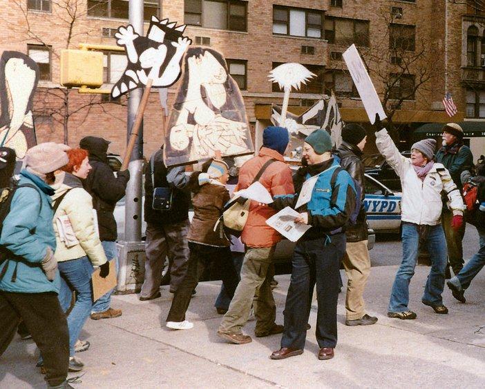 Anti-Iraq war protest in New York City (2003)
