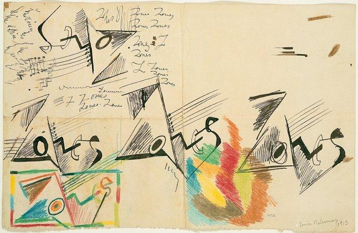Sonia Delaunay, Zones, 1913