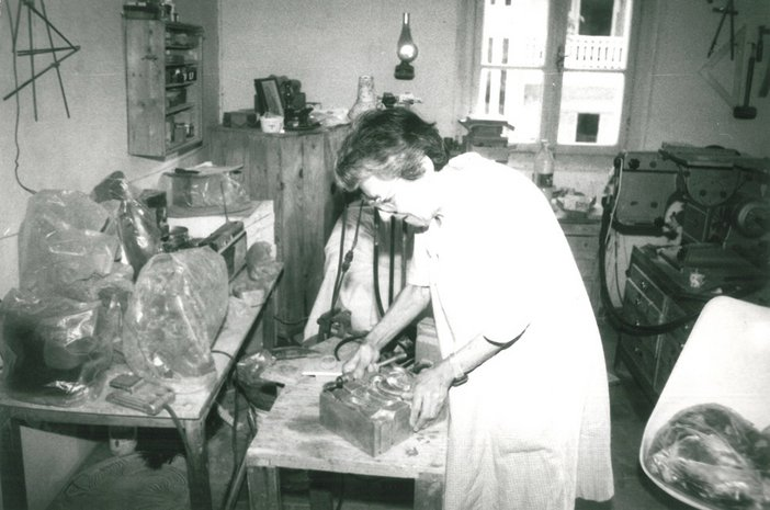 Archive image of Choucair in her studio