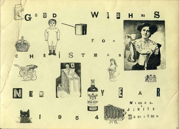 christmas card created by nigel henderson in 1954 - When Was Christmas Created