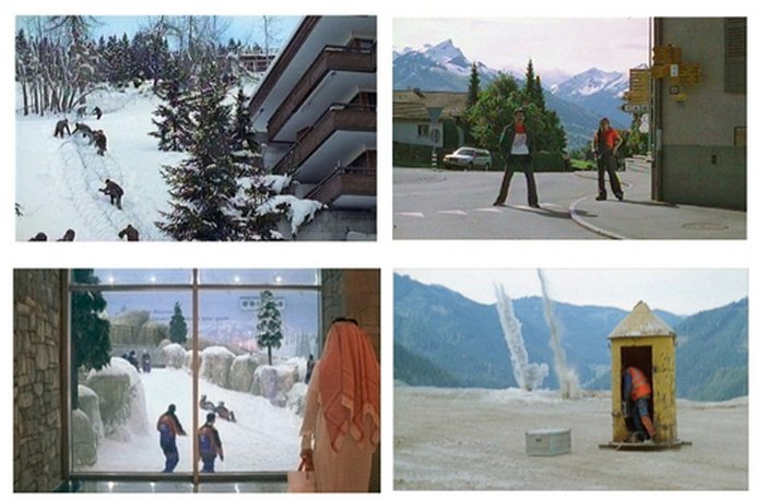 Film stills from Armin Linke video installation Alpi Film Project I