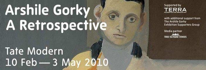 Arshile Gorky a retrospective exhibition banner