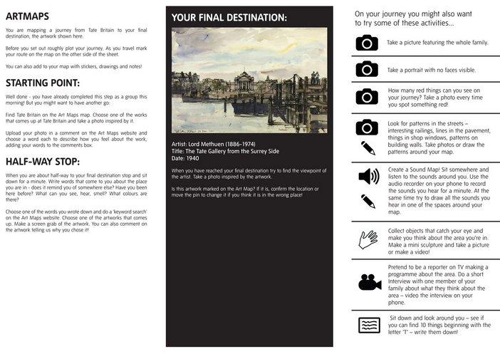 Art Maps activity sheet 2012
