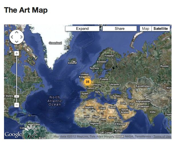 Art Maps Earth View
