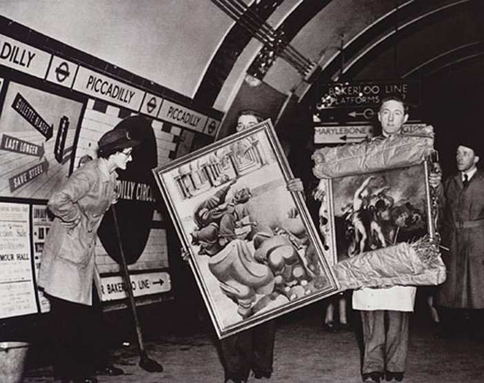 Paintings – like people – found safety in Underground stations during the Blitz in 1940