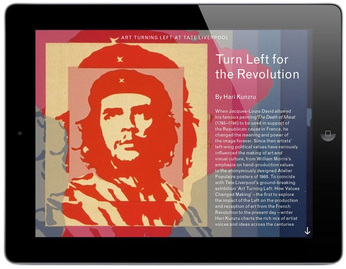 Art turning left app image from Tate Etc issue 29