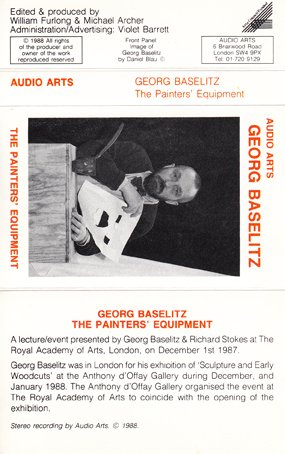 Audio Arts Georg Baselitz The Painter's Equipment Inlay 1