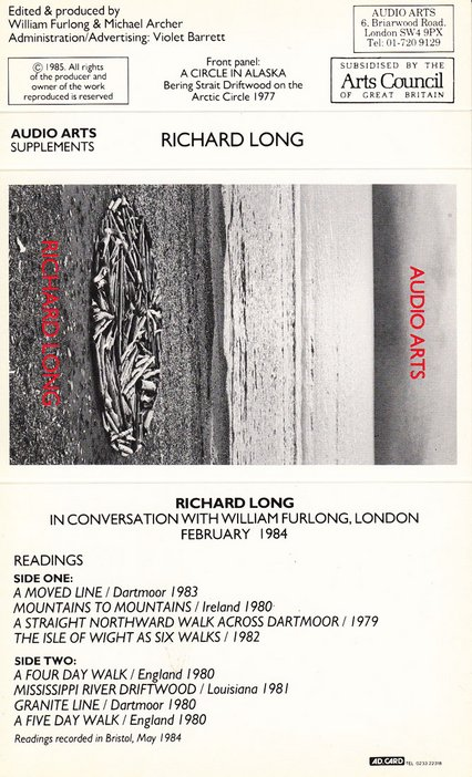 Audio Arts supplement Richard Long cassette inlay
