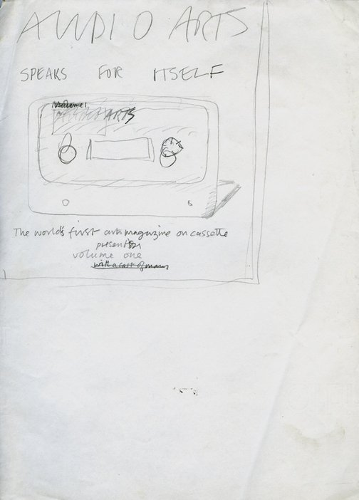 Sketch for the front inlay of the Audio Arts magazine series