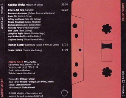 Audio Arts Volume 22 No 1, Inlay 3