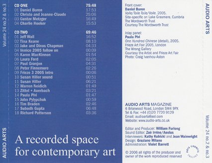 Audio Arts Volume 24 No 2-3, Inlay 6