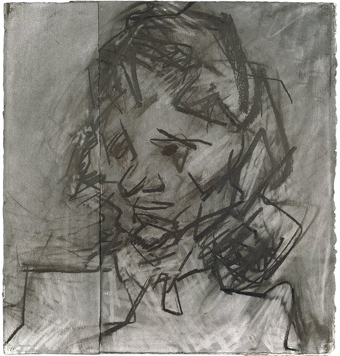 Frank Auerbach, Head of Catherine Lampert II 1985