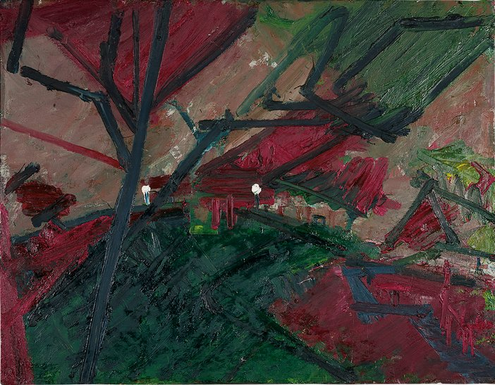 Frank Auerbach Winter Evening, Primrose Hill Study 1974–5
