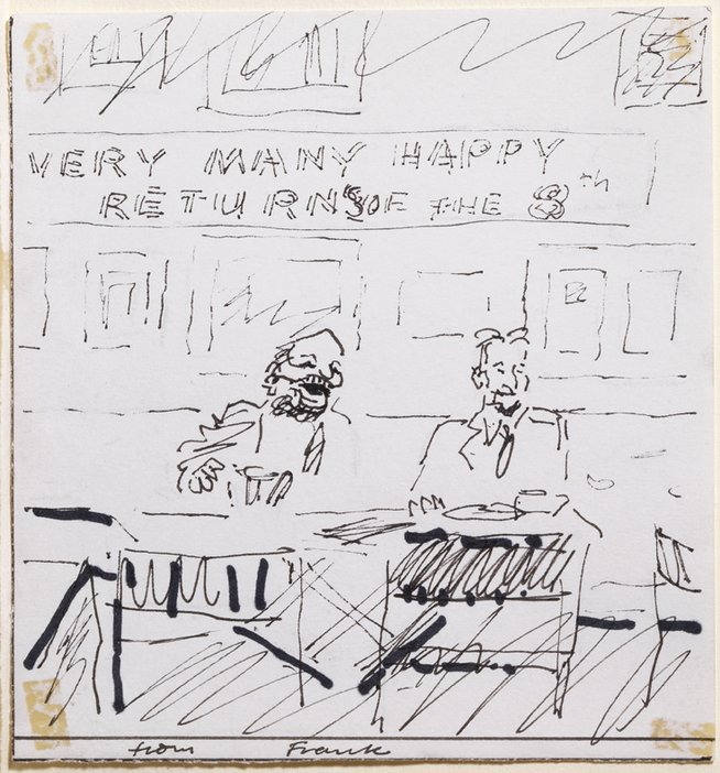 Frank auerbach through the eyes of lucian freud tate birthday card from frank auerbach to lucian freud bookmarktalkfo Images