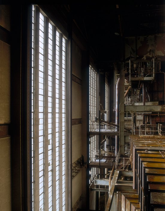 Interior view of Bankside Power Station before plant removal, 1994